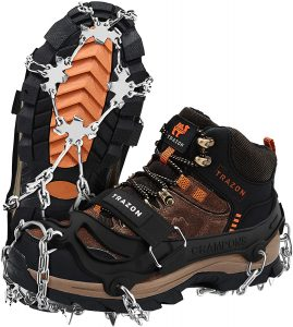 Crampons Ice Cleats Hiking Boots and Shoes